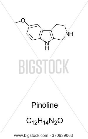 Pinoline, Skeletal Formula And Molecular Structure. A Methoxylated Tryptoline, Claimed To Be Produce