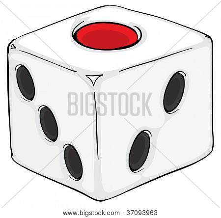 illustration of a ludo dice in a white background