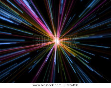Big Colorful Fatasy Alien Particles