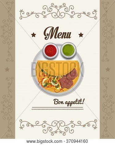 Gastronomy And Restaurant Menu Graphic Design, Vector Illustration Eps10
