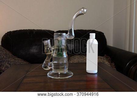 Glass Bong For Smoking A Marijuana And Other Vegetable Smoking Mixtures.