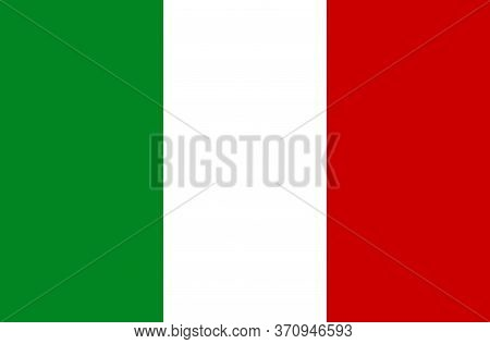National Italy Flag. Flat Vector Illustration. Eps10. Flag Of Italy. Symbol Of Independence Day, Sou