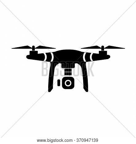 Drone With Camera  (vector).uav Drone Copter. Photo And Video Drone Icon (vector).drone Copter Flyin