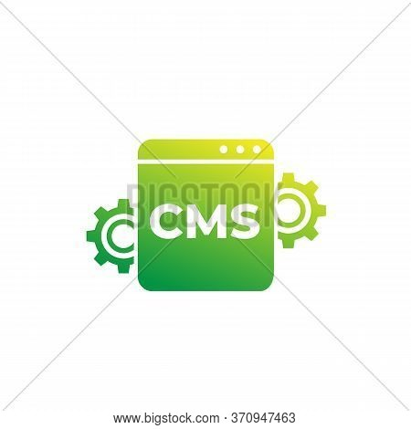 Cms, Content Management Vector Icon For Web, Eps 10 File, Easy To Edit