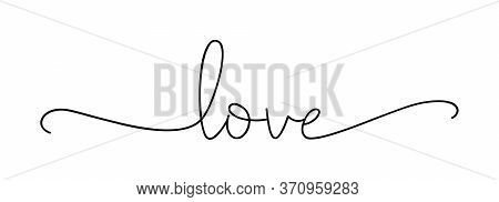Love. Lettering Typography Poster Vector Design For Valentines Day, Romantic, Wedding Banner. Modern