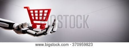 Ai Ecommerce Robot. Artificial Intelligence Online Shopping