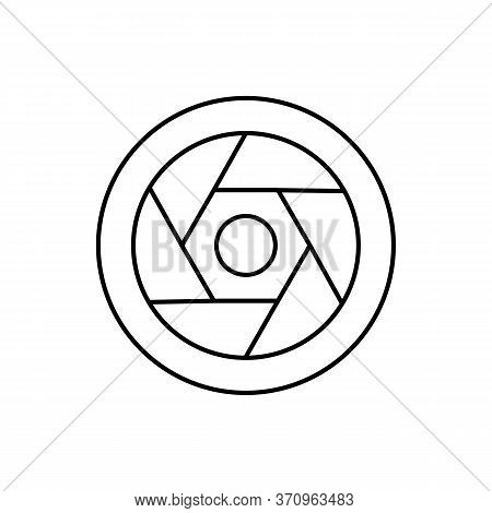 Camera Front Diaphragm Icon. Simple Line, Outline Vector Elements Of Shooting Equipment For Ui And U