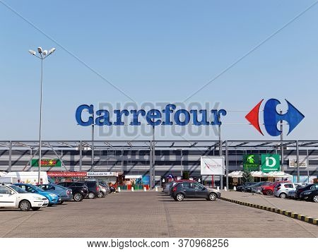 Focsani, Romania - October 28, 2017. Carrefour Hypermarket In Focsani. Carrefour Is A French Multina