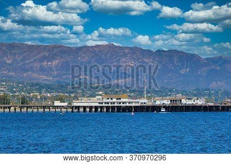 Santa Barbara, California - November 12, 2019: Santa Barbara Is A Coastal City In California. Beside