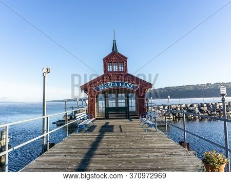 Pier House On Seneca Lake, Watkins Glen, New York