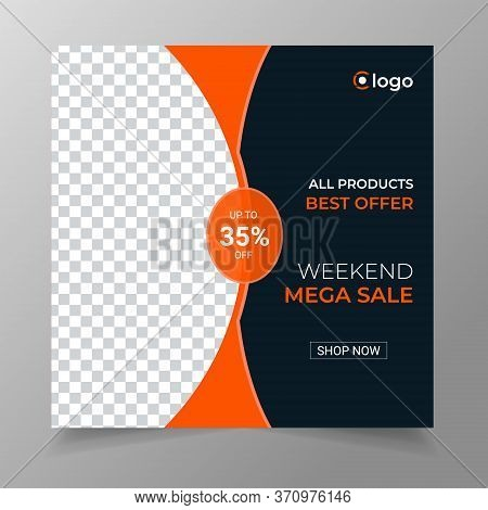 Fashion Sale Social Media Post Design Template, Social Media Post Fashion Promotion.