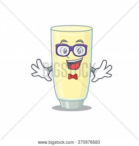 A Cartoon Drawing Of Geek Screaming Orgasm Cocktail Wearing Weird Glasses