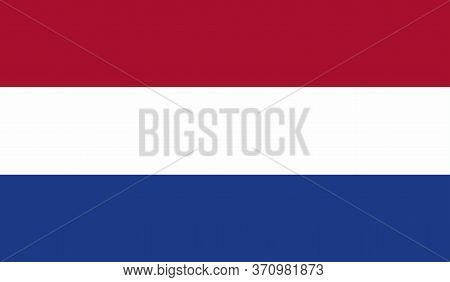 Netherlands Flag, Official Colors And Proportion Correctly. National Netherlands Flag. Vector Illust