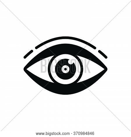 Black Solid Icon For Vision See View  Look Sight Watch Eyesight Dristi Peep