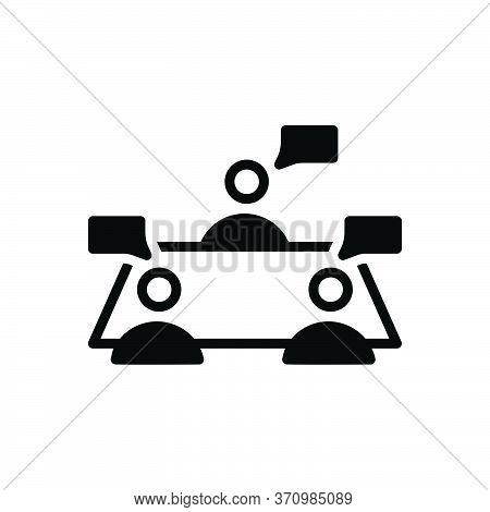 Black Solid Icon For Discussion Debate Disagreement Impugnment Polemics