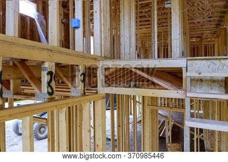 Wood Home Framing A House Condominium Under Residential Construction Home Framing Home
