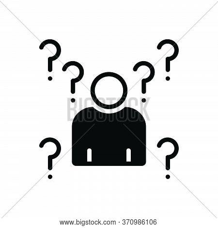 Black Solid Icon For Whois Unfamiliar Unknown Ignorant Unaware Unbeknownst Unbeknown Extrinsic