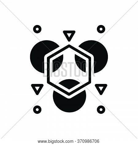 Black Solid Icon For Abnormal Unusual  Uncommon Shape Different