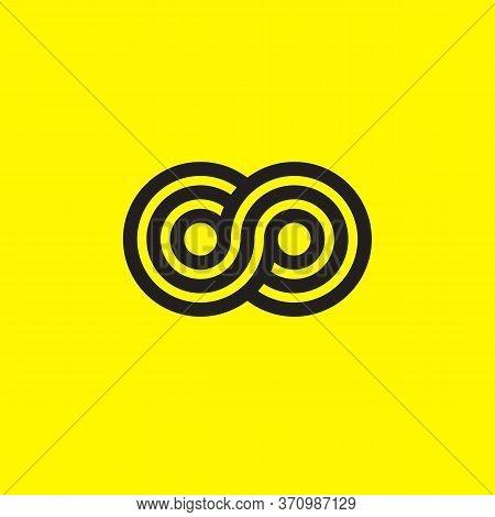 Infinity Logo. Geometric Sign For Infinity. Vector Illustration