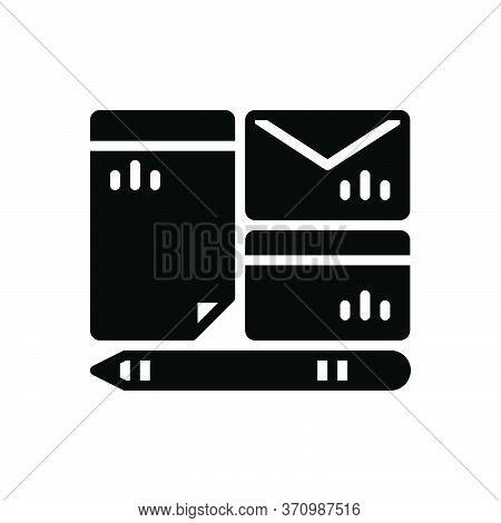 Black Solid Icon For Branding Mockup Identity Pen Brand Design