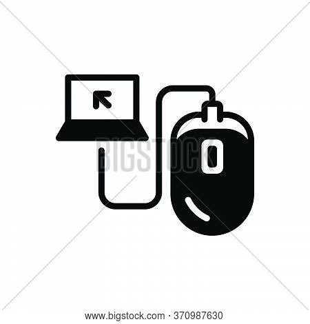 Black Solid Icon For Control Command Monitoring Curb Mouse Device