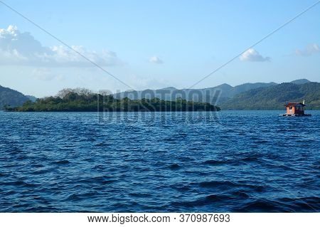 Island With Sky Background Trees And Sea During Daytime In Coron, Palawan, Philippines