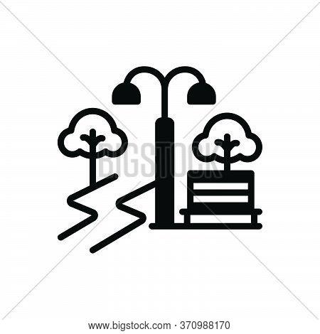 Black Solid Icon For Park Garden Belvedere Garth Plantation