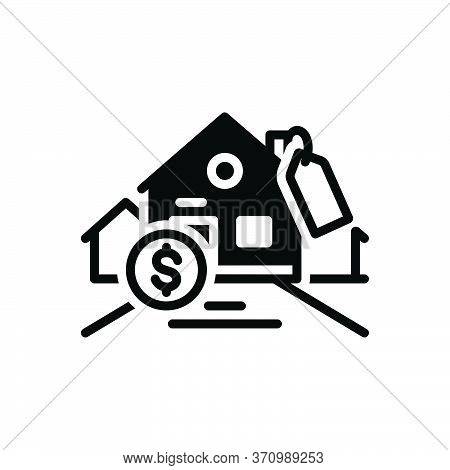 Black Solid Icon For Affordability Affordable Mortgage Expensive Cash
