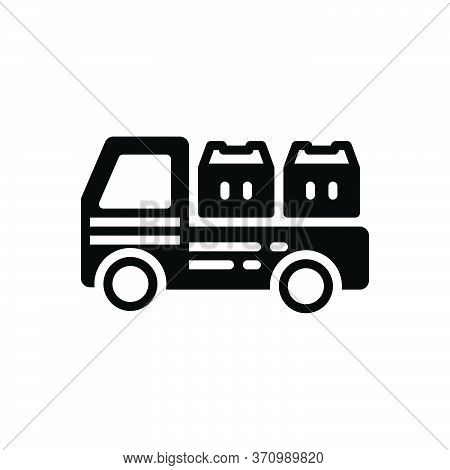Black Solid Icon For Cargo Goods Wares Stock Commodities  Shipping  Freight