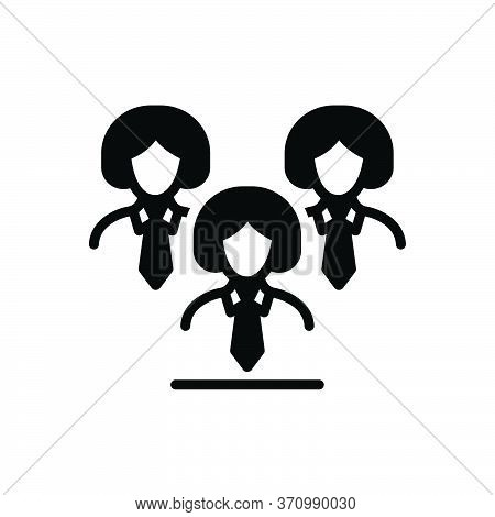 Black Solid Icon For Leadership Lead Guidance Hegemony  Manager
