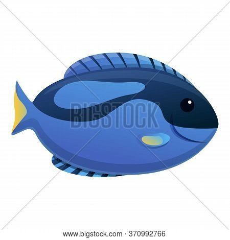 Fauna Exotic Fish Icon. Cartoon Of Fauna Exotic Fish Vector Icon For Web Design Isolated On White Ba