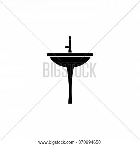 Sink Symbol For Handwashing, Simple Sink Symbol For Toilets, Kitchens, And Everywhere, Illustration