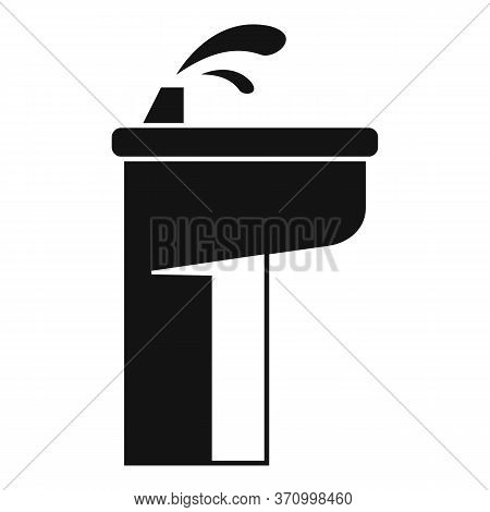 Drinking Pillar Icon. Simple Illustration Of Drinking Pillar Vector Icon For Web Design Isolated On
