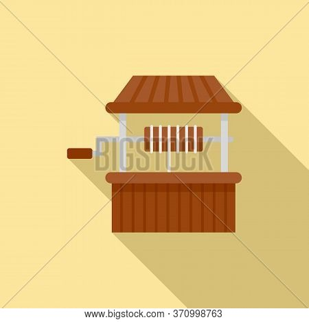 Village Water Well Icon. Flat Illustration Of Village Water Well Vector Icon For Web Design