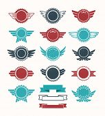 Set of retro vintage badge icons for logo, labels, packaging, web and print poster