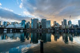 Sydney, Australia - Nov 14, 2017 : Sydney Downtown Skyline At Darling Harbor Bay, Business And Recre