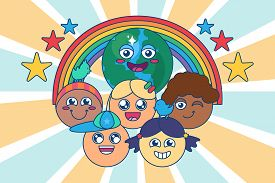 Diverse Children Group Of Multi Race Kids