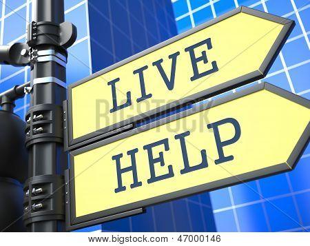 Live Help Roadsign.