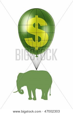 Dollar Power And Elephant