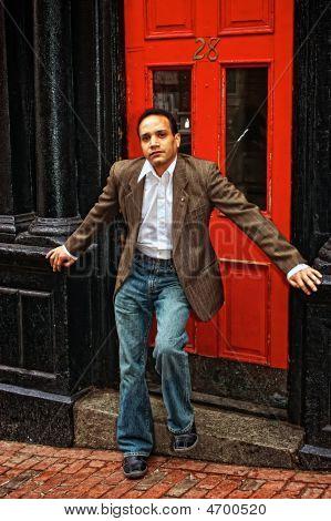 Posing At Red Door