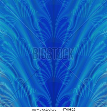 Beautiful Blue Fractal Background