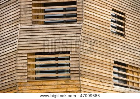 wooden building front