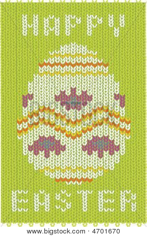 Knitted Easter Card