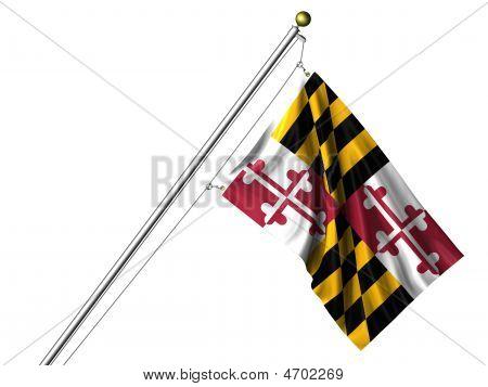 Isolated Maryland Flag