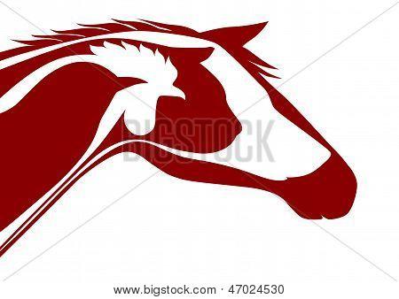 Red veterinary emblem