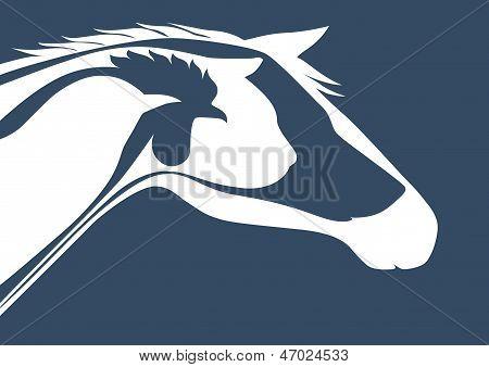 Veterinary emblem over blue