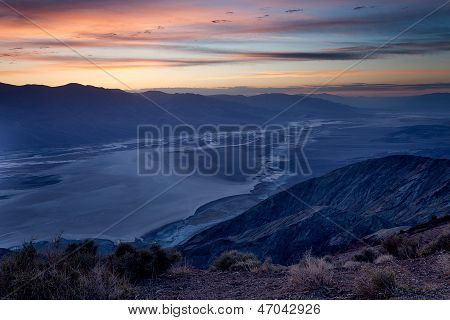 Night Time Clouds In Death Valley