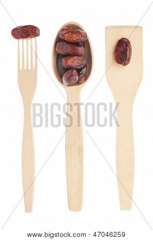 Wooden Spoon, Fork, Paddle With Finik