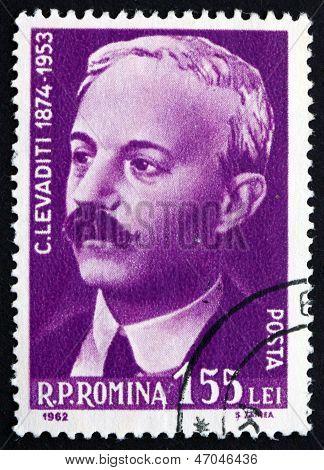 Postage Stamp Romania 1962 Constantin Levaditi, Physician