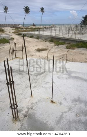 Abandoned Worksite And Foundations